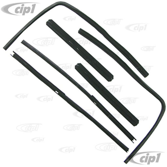VWC-211-837-375-A - (211837375A) EXCELLENT QUALITY - 6 PIECE FELT CHANNEL SEAL KIT - FRONT DOOR SLIDING WINDOWS - WILL DO BOTH FRONT DOORS - BUS 50-67 - SOLD SET