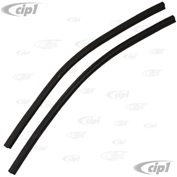 VWC-211-837-465-PR - GERMAN QUALITY - FIXED DOOR VENT WINDOW REAR SEALS - 16.25 INCH  - EUROPEAN BUS ONLY 68-79 - (PLEASE READ SPECIAL NOTES) SOLD PAIR