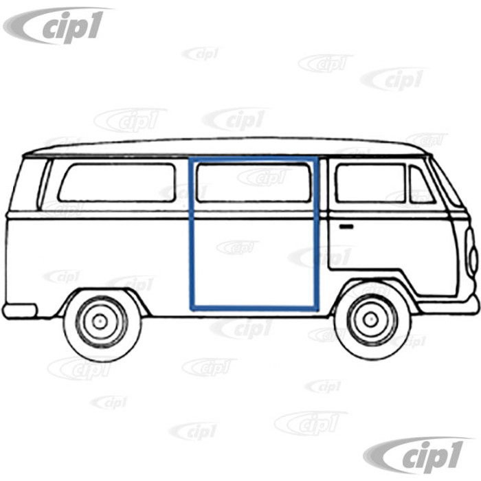 VWC-211-843-792-B - (211843792B) EXCELLENT REPRODUCTION - RIGHT SIDE SLIDING DOOR SEAL - FOR LHD - BUS 68-79 - SOLD EACH