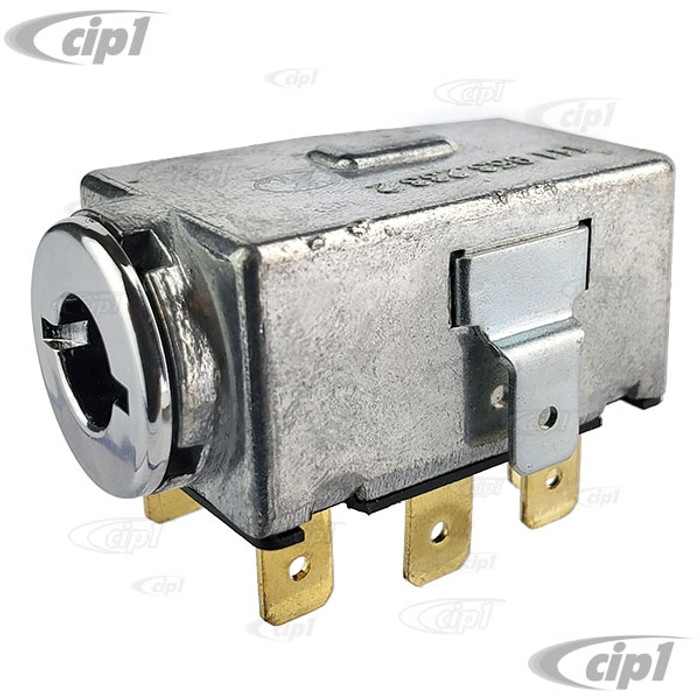 VWC-211-953-235-A - (211953235A) EMERGENCY FLASHER SWITCH (FOUR WAY FLASHER) - STD BEETLE 68-73 / SUPER BEETLE 71-72 / GHIA 68-74 / BUS 68-72 / TYPE-3 68-73 - SOLD EACH