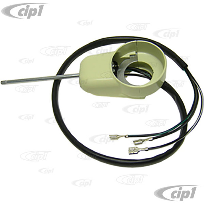 VWC-211-953-513-B - TURN SIGNAL SWITCH - 3 WIRE (WITH DECK LID BRAKE LIGHT) - BUS 3/55-57