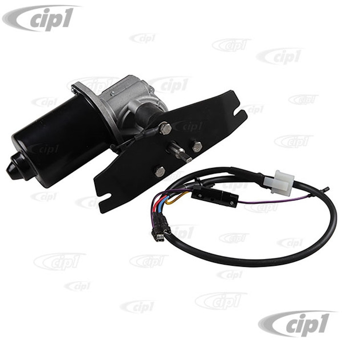 VWC-211-955-113 - (211955113) EXCELLENT QUALITY - 12-VOLT CONVERSION WIPER MOTOR WITH MOUNTING BRACKET - BUS 55-64 - SOLD EACH
