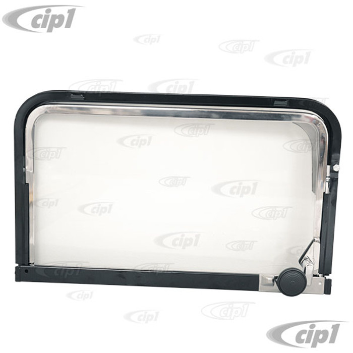 VWC-221-847-631-A - (221847631A) EXCELLENT REPRODUCTION - VENT WINDOW ASSEMBLY - LEFT CENTER OR REAR SIDE WINDOW (NOT DOOR VENT) SEALS SOLD SEPARATELY - BUS 68-79 - SOLD EACH