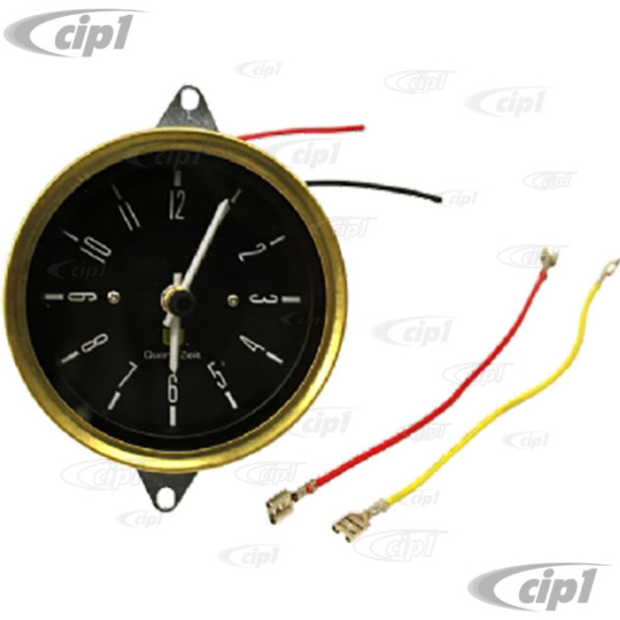 VWC-221-957-069 - (221957069) ORIGINAL STYLE 12 VOLT DASH MOUNT CLOCK - CORRECT FOR BUS 76-79 (WILL FIT ALL BUS 68-79) - SOLD EACH