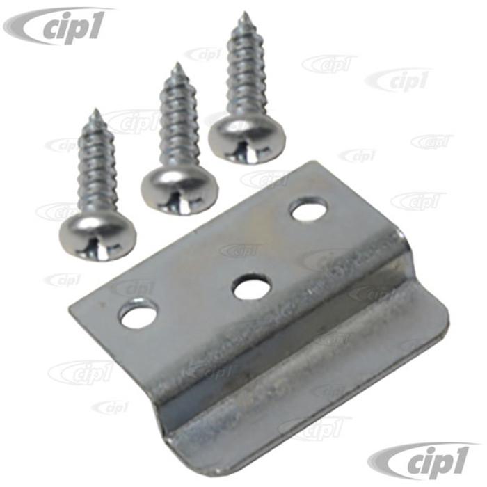 VWC-231-867-450 - WESTFALIA CAMPER 64-79  - METAL CATCH BRACKET FOR CUPBOARD DOOR WITH SCREWS - SOLD EACH