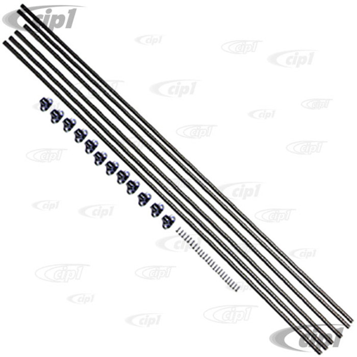 VWC-241-898-500 - (241898500) EXCELLENT QUALITY - CURTAIN ROD SET - JAIL BAR STYLE WITH HARDWARE - BUS 68-79 (COVERS 3 SIDE WINDOWS-LEFT REAR AND RIGHT 2 SIDE WINDOWS) - SOLD SET