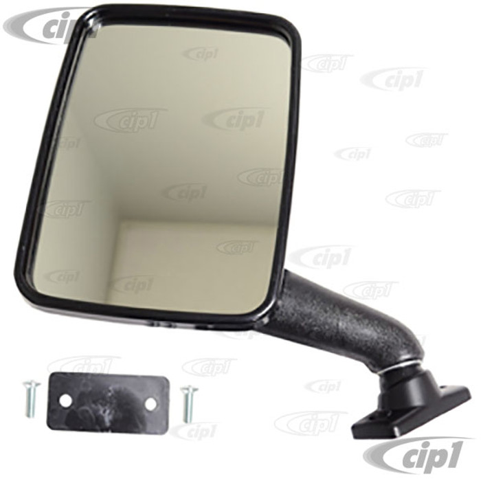 VWC-251-857-513 - (251857513) OE HAGUS BRAND MADE IN GERMANY - BLACK OUTSIDE MIRROR LEFT - VANAGON 80-91 - SOLD EACH