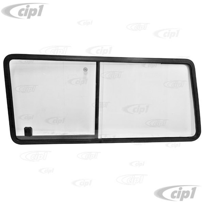 VWC-253-847-765 - (253847765) EXCELLENT QUALITY - SLIDING WINDOW FOR THE LEFT REAR SIDE - WITH SLIGHT GREY TINT (SEAL SOLD SEPARATELY - SEE 253-845-341) - LHD DRIVER SIDE - VANAGON 80-91 - SOLD EACH