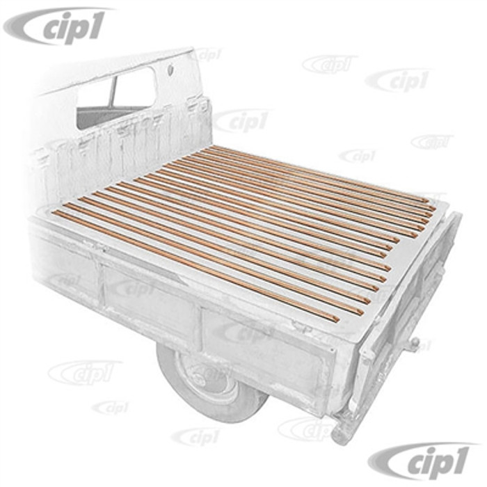 VWC-265-898-001 - (265898001) MADE IN EUROPE - CARGO BED WOOD SLAT KIT (ATTACHING HARDWARE NOT INCLUDED - SEE ACC-C20-3600) - TYPE-2 DOUBLE CAB TO-1966 - SOLD SET
