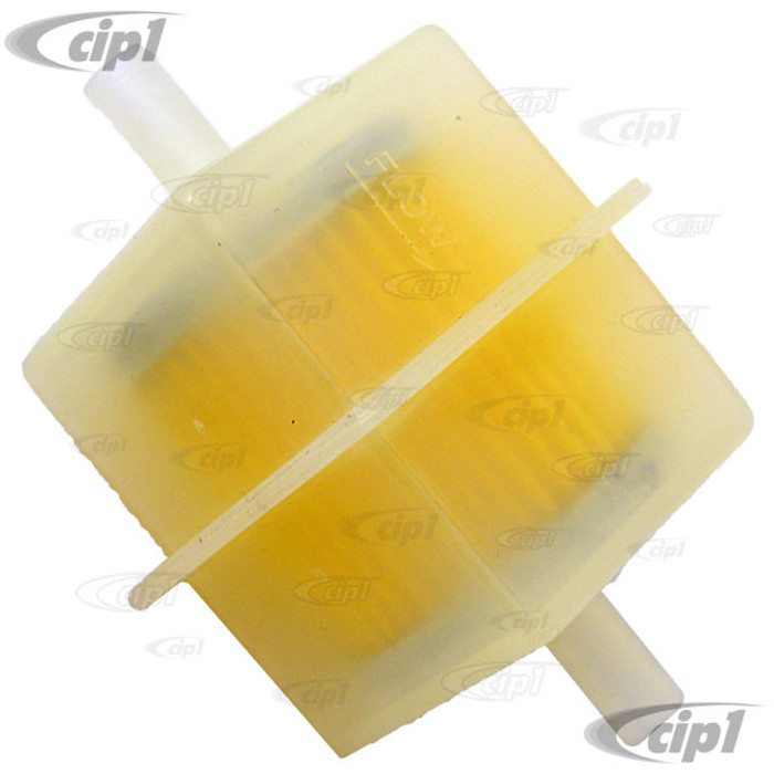 VWC-311-133-511 - (311133511) SQUARE PLASTIC FUEL FILTER WITH (7MM INLET/OUTLET) - TYPE-3 68-73 - SOLD EAC