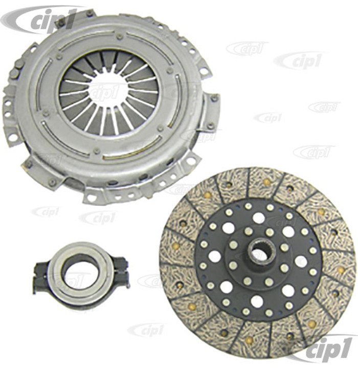 VWC-311-140-025-DKIT - (311-141-025-D 311141025D) OE QUALITY 200MM CLUTCH KIT WITHOUT COLLAR - PRESSURE PLATE / CLUTCH DISC / THROW OUT RELEASE BRG - BEETLE/GHIA 71-79 - SOLD KIT