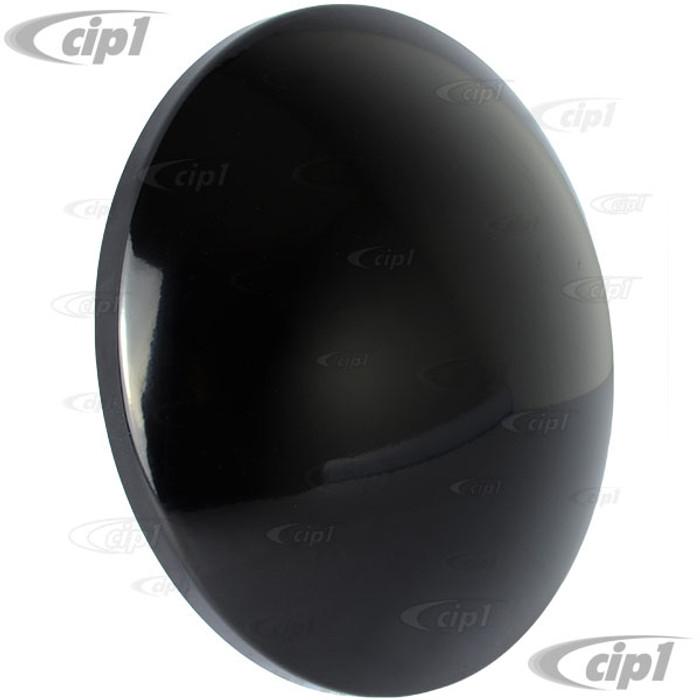 VWC-311-601-151-MNBK - (311601151) GLOSS BLACK MOON HUBCAP - ALL VW STYLE 4 BOLT STEEL WHEELS - SOLD EACH
