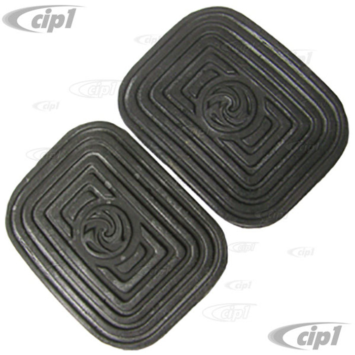 VWC-311-721-173-A2 - BRAKE & CLUTCH PEDAL PADS - BEETLE 46-79-GHIA 56-74-BUS 55-67-TYPE-3 62-74-THING - SOLD PAIR