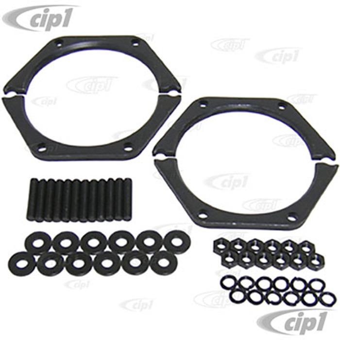 C13-16-9906 - EMPI - HEAVY DUTY SIDE COVER RETAINER REINFORCEMENT PLATES WITH HARDWARE - ALL SWINGAXLE STYLE TRANSMISSIONS - SOLD KIT
