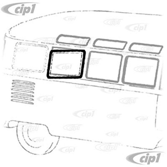 VWC-221-847-131-A - (221-131A 221847131A) - EXCELLENT QUALITY - SIDE POPOUT WINDOW OUTER SEAL ON WINDOW FRAME - LEFT OR RIGHT BUS 50-67 - SOLD EACH