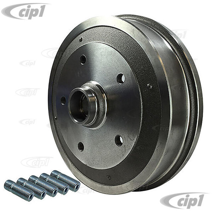 ACC-C10-6755 - (111-405-615-B 111405615B) - GERMAN QUALITY (MADE IN EUROPE) - FRONT BRAKE DRUM WITH 5X130MM PORSCHE BOLT PATTERN - STD BEETLE 68-77 GHIA 68-74 - SOLD EACH