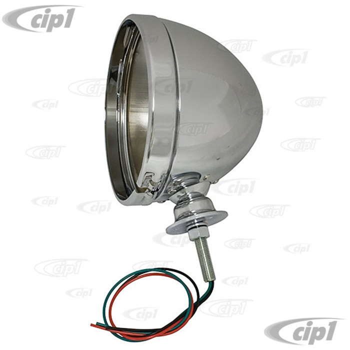 C26-941-411 - (SIMULAR TO EMPI 9307 AND ACC-C10-7501) - CHROME 7 INCH HEADLIGHT HOUSING FOR BAJA BUGS / DUNE BUGGIES (HEADLIGHT ULB NOT INCLUDED) - SOLD EACH