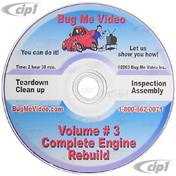 ACC-C10-9602-DVD - BUG-ME DVD VERSION - VOL-3 BEETLE-GHIA ENGINE REBUILD