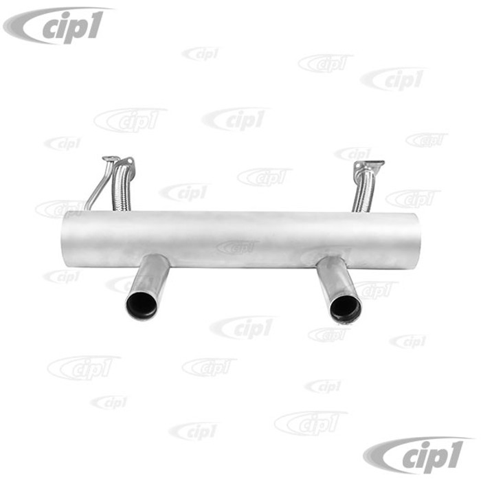 C23-35171S-FLX - SEBRING STYLE STAINLESS STEEL (FLEX FIT) SPORTS EXHAUST - BEETLE/GHIA 13-1600CC - SOLD EACH