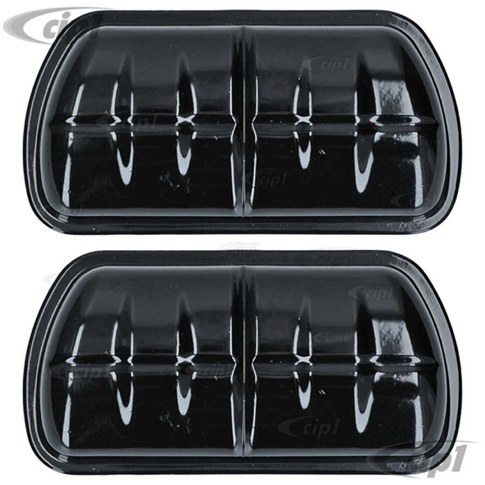 VWC-111-101-475-PR - (111101475) - EXCELLENT REPRODUCTION - VALVE COVERS - BLACK - ALL 25-36HP ENGINES - BEETLE/GHIA/BUS  - SOLD PAIR