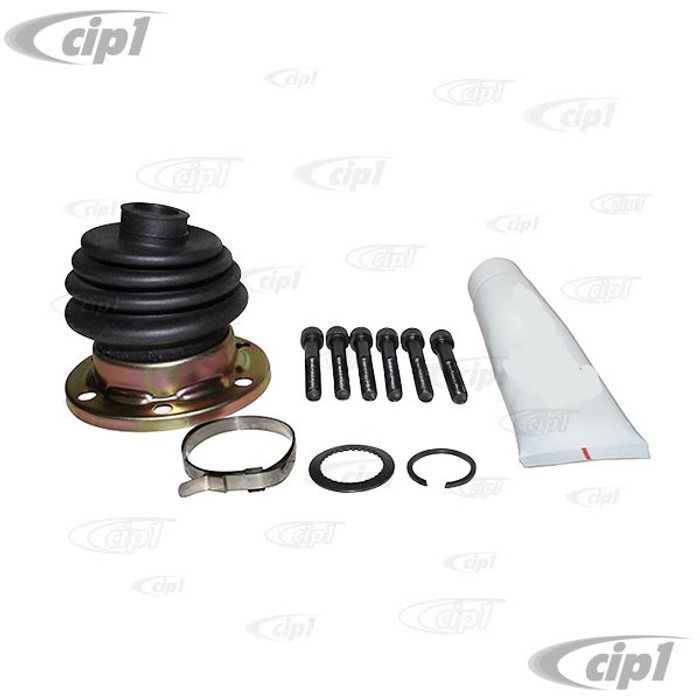 VWC-211-598-201 - (211598201) - CV JOINT BOOT KIT - CONTAINS 1 BOOT W/ GREASE - CLAMP AND BOLTS - BUS 68-79 / VANAGON 80-91 / THING73-74 - SOLD KIT