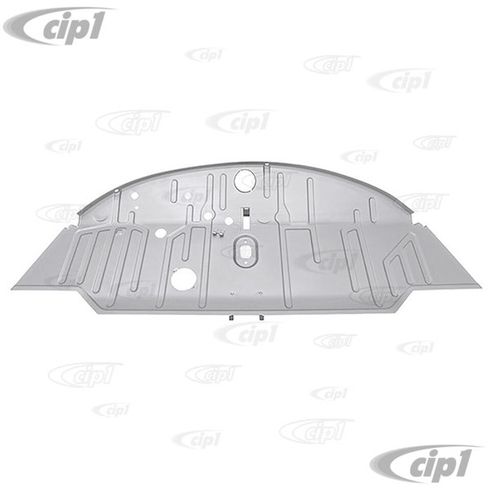 VWC-211-801-051-D - (211801051D) SILVER WELD-THROUGH HIGH QUALITY SHEET METAL - COMPLETE FRONT FLOOR REPLACEMENT PANEL - BUS 60-67 (STARTING FROM CHASSIS #501-707) - SOLD EACH