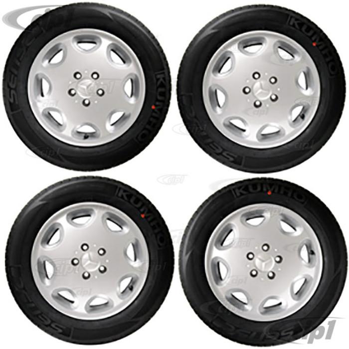 ACC-C10-6599-SET - WHEEL/TIRE PACKAGE- SILVER 16X7.5 ALLOY WHEEL 5X112MM WITH 215/60R16 NAGKANG SP-9 C/SPORT TIRES - MOUNTED & BALANCED - DIRECT BOLT ON FOR 2WD OR 4WD BUS/VANAGON 71-91 - CAP AND VALVE STEM INCLUDED - HARDWARE SOLD SEPARATELY - SET O