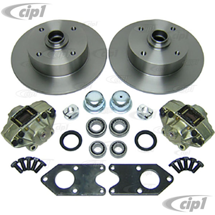 ACC-C10-4120 - BOLT-ON DISC BRAKE KIT FOR STOCK DRUM KING-LINK PIN FRONT END - KIT INCLUDES YOUR SELECTED ROTORS - BEETLE 52-65 / GHIA 56-65  - (A40)