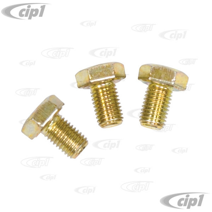 ACC-C10-5031-HD - (EMPI 21-4315) SET OF 3 LOW PROFILE CAM GEAR GRADE-8 BOLTS (LOCTITE AND WASHERS RECOMMENDED BUT NOT INCLUDED) -  FOR PERFORMANCE CAMSHAFTS WITH BOLT ON GEAR (WILL CLEAR ALL OIL PUMPS) - SOLD SET