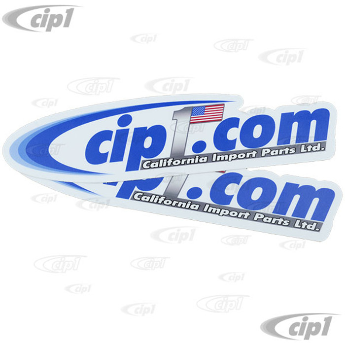 ACC-C10-CIPS-COM - PAIR OF Cip1 LOGO OVAL DECALS - 8 INCH x 1.75 INCH (200mm x 45mm) - SOLD PAIR