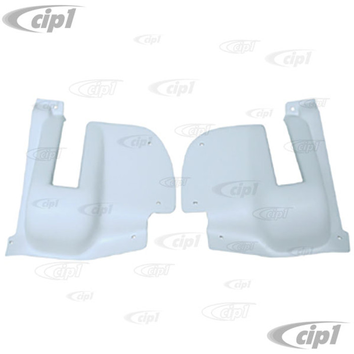 ACC-C20-3500 - (211-867-529 211867529) EXCELLENT REPRODUCTION - REAR DOOR HINGE COVERS - WHITE - BUS 64-67 - SOLD PAIR