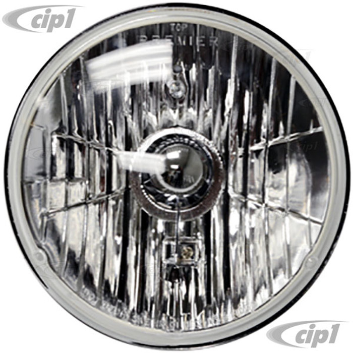 C11-31387 - 7 INCH CRYSTAL HEADLIGHT (WITH H4 HALOGEN BULB) - SOLD EACH