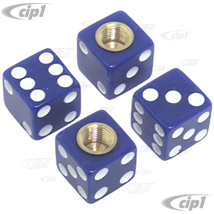 C11-70008 - BLUE DICE VALVE STEM CAPS - SET OF 4
