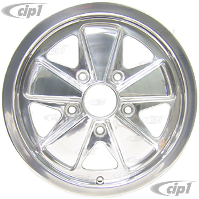 ACC-C10-6649 - 911 STYLE 5 SPOKE ALUMINUM WHEEL - FULLY POLISHED - 5.5 INCH WIDE X 15 INCH DIA. - 5X130MM BOLT PATTERN (5 INCH BACKSPACE) - CENTER CAP AND HARDWARE SOLD SEPARATELY - SOLD EACH