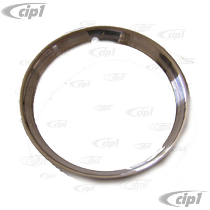C11-A6224-4 - STAINLESS STEEL TRIM RING - 14 INCH DIAMETER RIMS - WITH VINTAGE STYLE RIBS - SOLD EACH