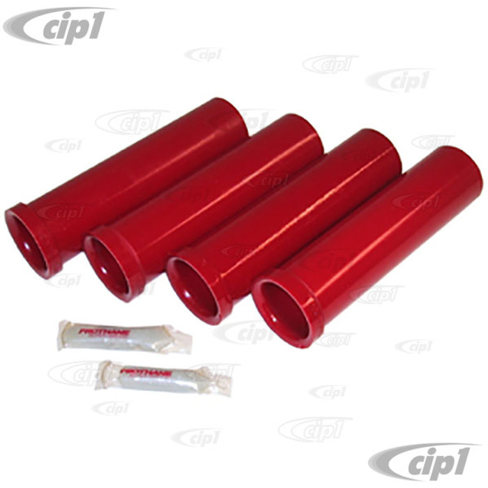 C12-6523-20 - URETHANE BUSHING KIT REPLACES INNER & OUTER MICARTA BUSHINGS - 45mm OD - 4 PIECES - BEETLE/GHIA 49-65  SEE NOTES...