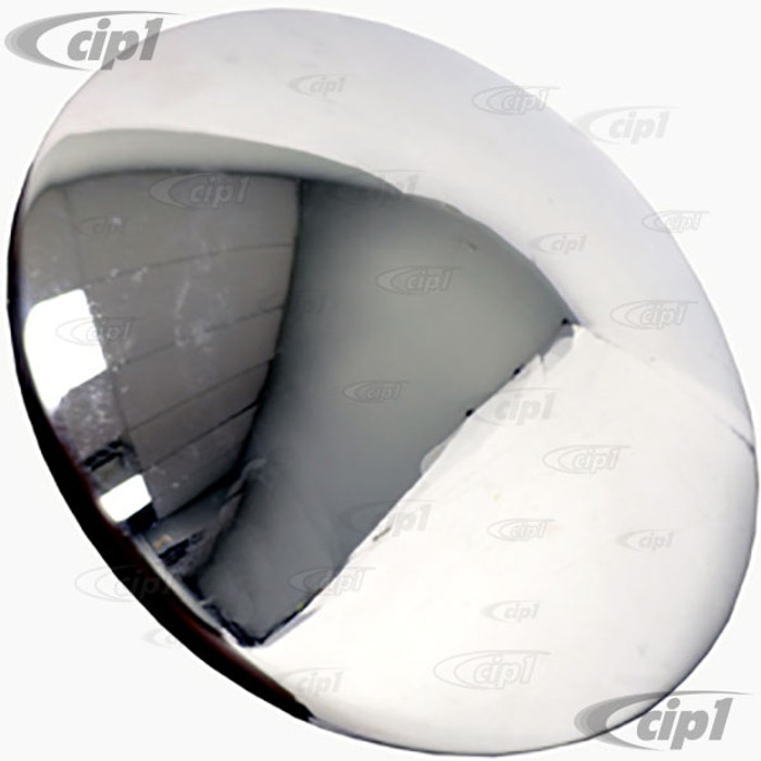 C13-10-1061 - CHROME SMOOTHIE HUBCAP - MOON STYLE 5 BOLT WHEEL - BEETLE 46-65 - GHIA 56-65 - BUS 50-70 - THING 73-74 - SOLD EACH