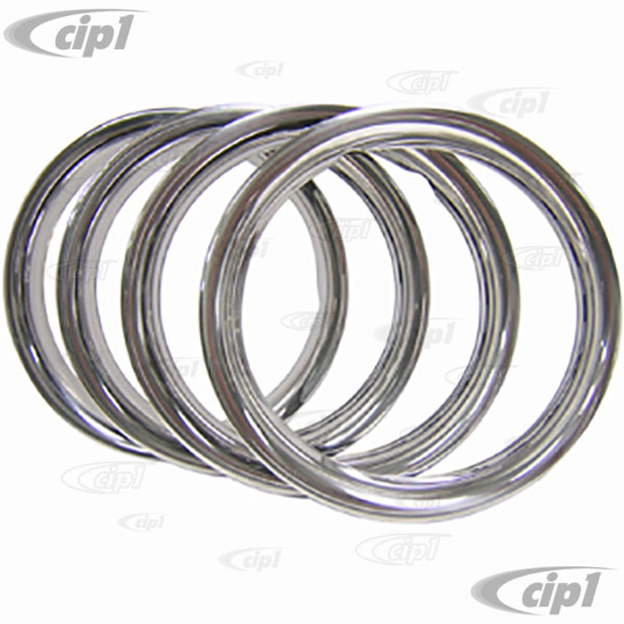 C13-10-1069 - EMPI STAINLESS STEEL BEAUTY RIMS - 15 INCH DIAMETER RIMS - SMOOTH STYLE - SOLD SET OF 4