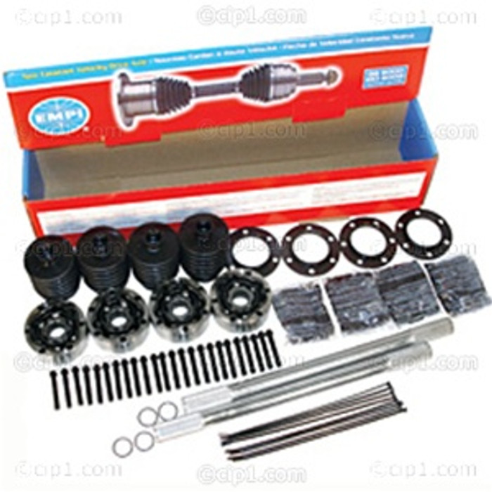 C13-16-2232 - EMPI BRAND - COMPLETE CHROMOLY I.R.S. RACING AXLE KIT - TYPE-2 CV JOINTS - 19-1/4 INCH AXLES WITH 33 SPLINES - (A20)