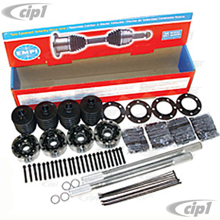 C13-16-2235 - EMPI BRAND - COMPLETE CHROMOLY I.R.S. RACING AXLE KIT - 930 CV JOINTS - 19-1/4 INCH AXLES WITH 28 SPLINES - SOLD EACH