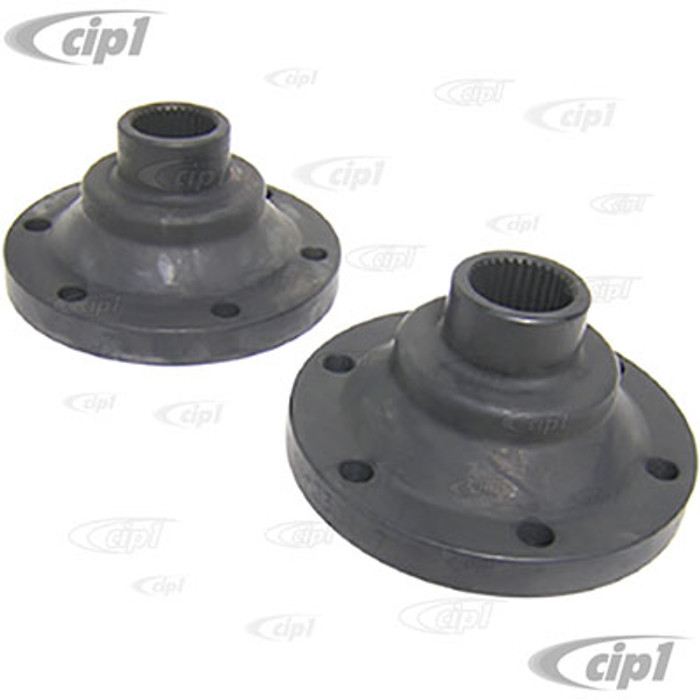 C13-16-2299 - FORGED TRANS DRIVE FLANGES - FIT ON BEETLE IRS TRANS TO BUS CV JOINT - 8MM THREADED HOLES - SOLD PAIR