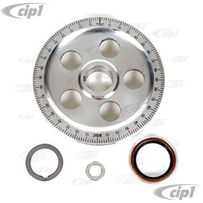 ACC-C10-5997 - (EMPI 8688 AC105283) ALUMINUM STOCK SIZE SAND SEAL PULLEY KIT - BOLT-ON DESIGN - FITS ALL 13-1600CC BEETLE STYLE ENGINES - SOLD EACH