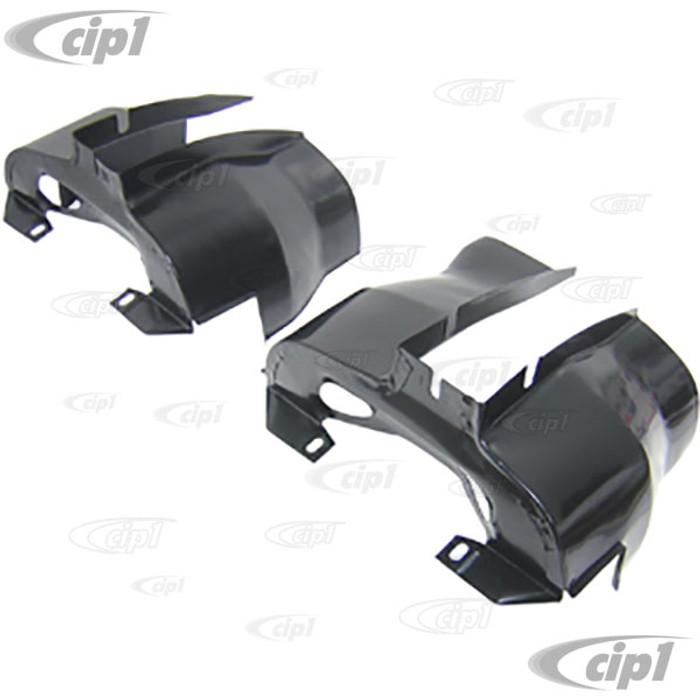C13-16-9501 - EMPI - DUAL PORT CYLINDER SHROUD TINS - PRE-TRIMMED OPEN OFF-ROAD ENGINES - BLACK - SOLD PAIR