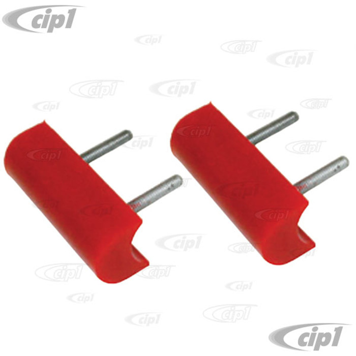 C13-16-9548 - EMPI - RED URETHANE RADIUSED BUMP STOP  - 4 INCH LONG FOR 1.5 INCH DIA. TUBE - SOLD PAIR
