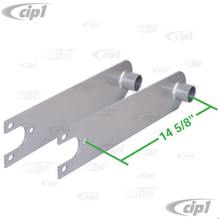 C13-17-2658 - EMPI - HEAVY DUTY SPRING PLATES WITH 1-1/4 IN. COLLAR FOR 21-3/4 IN. LONG TORSION BARS (PAINTED) - BEETLE/GHIA SWING AXLE - SOLD PAIR