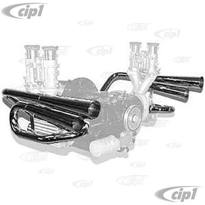 C13-18-1047 - EMPI - STAINLESS STEEL 4 PIPE STINGER EXHAUST SYSTEM - POWER PIPES ( BAFFLES SOLD SEPARATELY)  - SOLD EACH