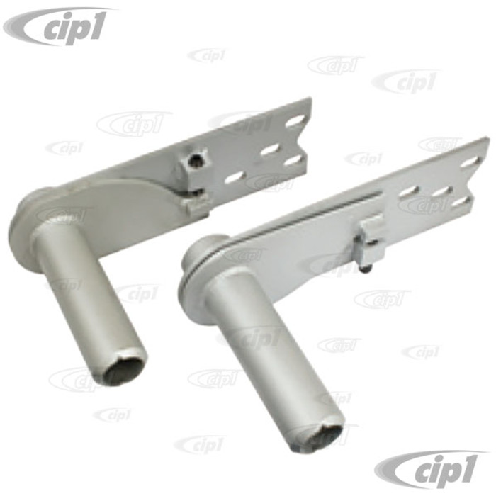 C13-18-1075 - EMPI - ADJUSTABLE HEAVY DUTY 4-HOLE SPRING PLATES WITH 6-1/8 IN. COLLAR (PAINTED) - BEETLE/GHIA I.R.S. WITH 26-9/16 INCH LONG TORSION BARS - SOLD PAIR