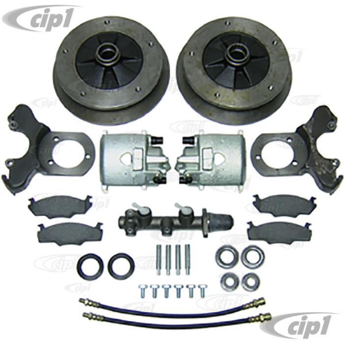C13-22-2885 - EMPI - BOLT-ON BALL-JOINT WIDE 5 BOLT DISC BRAKE KIT BEETLE/GHIA 66-67 - FOR STOCK DRUM SPINDLES - (A40)