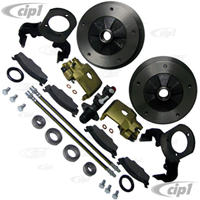 C13-22-2895 - EMPI - BOLT-ON BALL-JOINT WIDE 5 BOLT DISC BRAKE KIT BEETLE/GHIA 68-77 - FOR STOCK DRUM SPINDLES - (A40)