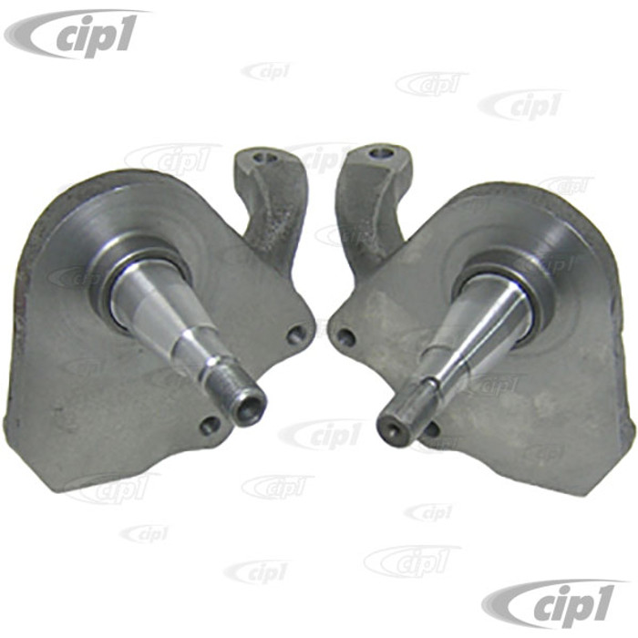 C13-22-2950 - 2-1/2 INCH DROP SPINDLES FOR LINK-PIN FRONT END WITH DISC BRAKE MOUNT (WITH LATE STYLE BALL-JOINT SPINDLES) - BEETLE/GHIA 49-65 - SOLD PAIR